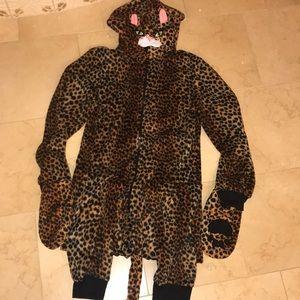 Cheetah cat Medium onesie
